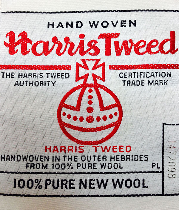Official Harris Tweed trademark label